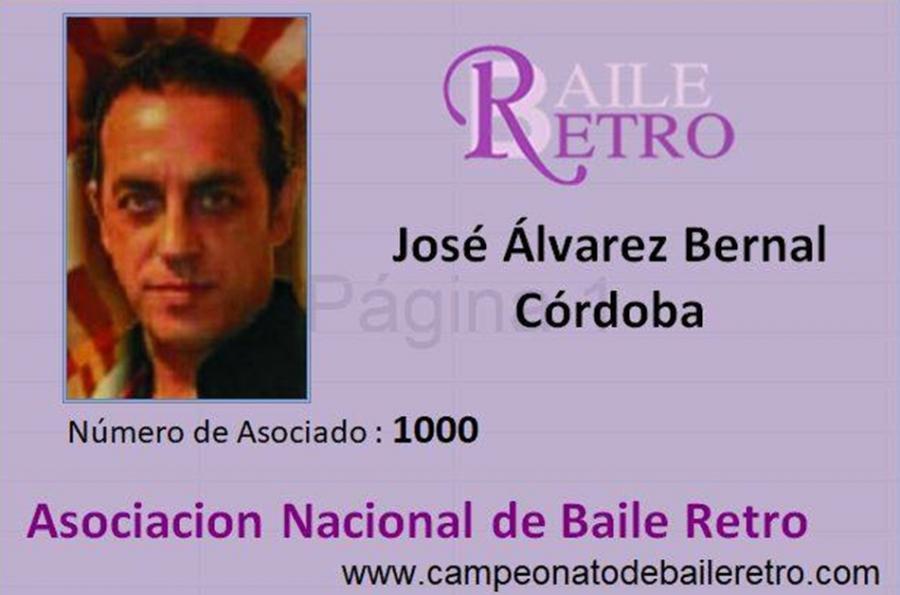 Actualidad Actualidad Así será el carnet personalizado que entregará la Asociación Nacional del Baile Retro a los bailarines