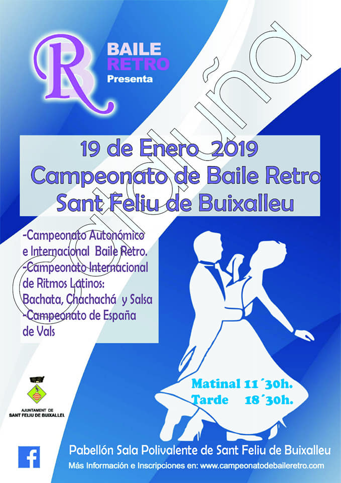 Actualidad Actualidad La localidad barcelonesa de Sant Feliu de Buixalleu acoge este sábado el Campeonato Autonómico e Internacional de Baile Retro y el Internacional de Ritmos Latinos